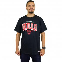 Mitchell & Ness T-Shirt Team Arch Traditional Chicago Bulls schwarz