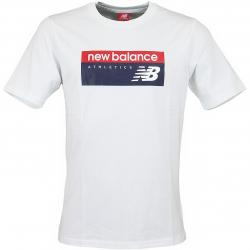 New Balance T-Shirt Athletic Banner weiß