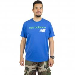 New Balance T-Shirt Athletics WC blau