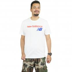 New Balance T-Shirt Athletics WC weiß