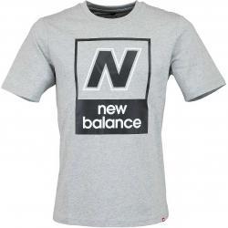 New Balance T-Shirt Essentials N Box grau