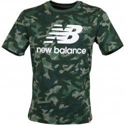 New Balance T-Shirt Essentials Stack Logo grün