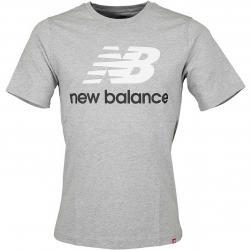 New Balance T-Shirt Essentials Stacked grau