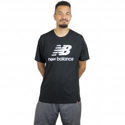 New Balance T-Shirt Essentials Stacked schwarz/weiß
