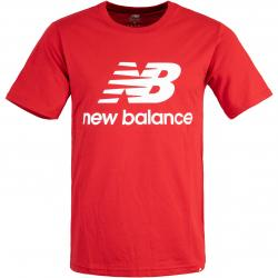 New Balance T-Shirt Essentials Stacked Logo rot