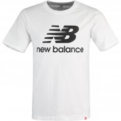 New Balance T-Shirt Essentials Stacked Logo weiß
