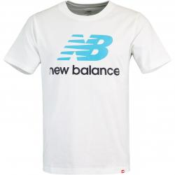 New Balance Essential Stacked Logo T-Shirt weiß