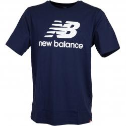New Balance T-Shirt Essentials Stacked dunkelblau
