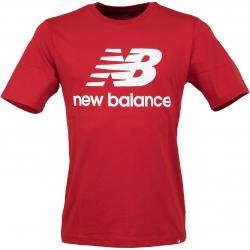New Balance T-Shirt Essentials Stacked rot/weiß
