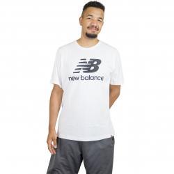 New Balance T-Shirt Essentials Stacked weiß