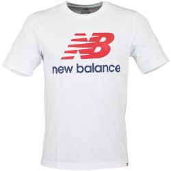 New Balance T-Shirt Essentials Stacked weiß