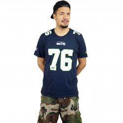 New Era T-Shirt Dryera No Tee Seattle Seahawks dunkelblau