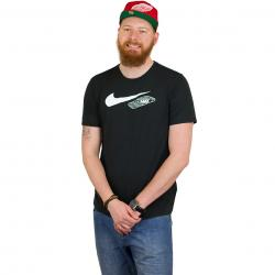 Nike T-Shirt Air Max 90 Swoosh schwarz/weiß