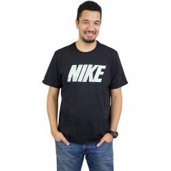 Nike T-Shirt Block schwarz/volt