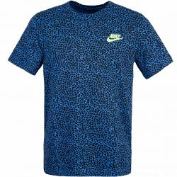 Nike Brand Riffs Allover Print T-Shirt navy