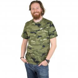 Nike T-Shirt Camo 1 oliv/weiß