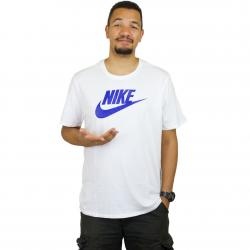 Nike T-Shirt Icon Futura weiß/royal
