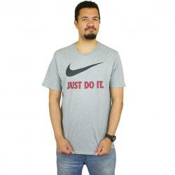 Nike T-Shirt Just Do It Swoosh grau/rot