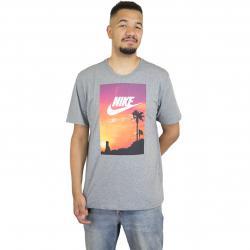 Nike T-Shirt Photo L.A. grau/weiß