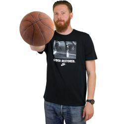 Nike T-Shirt Preseason Order schwarz/weiß