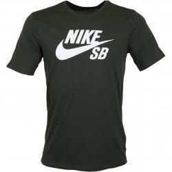 Nike T-Shirt SB Logo sequoia/weiß
