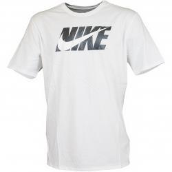 Nike T-Shirt Swoosh Block weiß