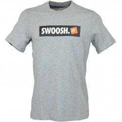 Nike T-Shirt Swoosh Bumper Sticker grau/weiß