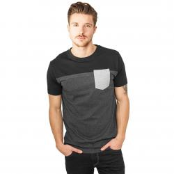 Urban Classics T-Shirt 3-Tone Pocket charcoal/black/grey