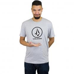 Volcom T-Shirt Circlestone basic grau meliert