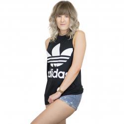 Adidas Originals Damen Tanktop Trefoil schwarz/weiß