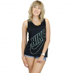 Nike Damen Tanktop Logo schwarz/weiß