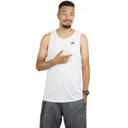 Nike Tanktop Club Embroidered Futura weiß/rot