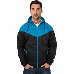 Jacke Urban Classics Arrow Windrunner Regular Fit black/türkis