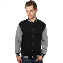 Sweatjacke Urban Classics 2-Tone College Regular F black/grey