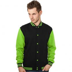 Sweatjacke Urban Classics 2-Tone College Regular F black/lime