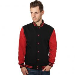 Sweatjacke Urban Classics 2-Tone College Regular F black/red