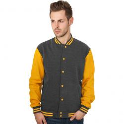 Sweatjacke Urban Classics 2-Tone College Regular F charcoal/orange