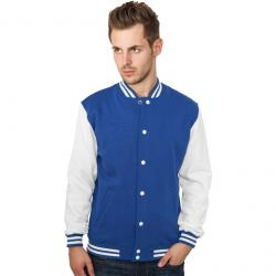 Sweatjacke Urban Classics 2-Tone College Regular F royal/white