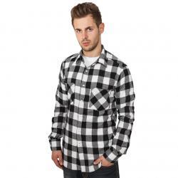 Urban Classics Hemd lang Checked Flanell schwarz/weiß