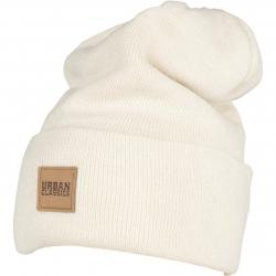 Urban Classics Leatherpatch Long Beanie sand