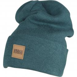 Urban Classics Leatherpatch Long Beanie jasper