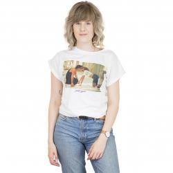 Dedicated Damen T-Shirt Dirty Dancing The Kiss weiß