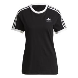 Adidas 3 Stripes Damen Shirt schwarz