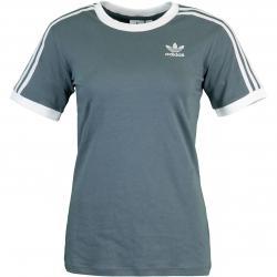 Adidas 3 Stripes Damen T-Shirt blueoxid