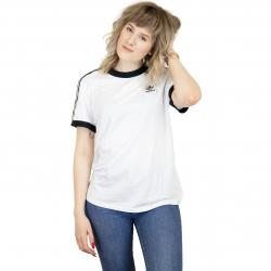 Adidas Originals Damen T-Shirt 3 Stripes weiß/schwarz