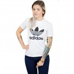 Adidas Originals Damen T-Shirt Trefoil weiß/schwarz