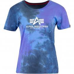 Alpha Industries Batik Damen Shirt pastel blau