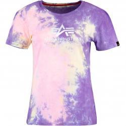 Alpha Industries Batik Damen Shirt purple