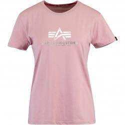 Alpha Industries New Basic Foil Print Damen Shirt pink