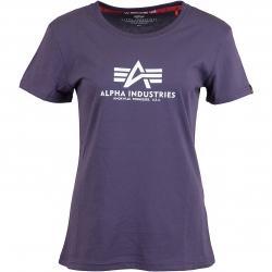 Alpha Industries Damen T-Shirt New Basic lila
